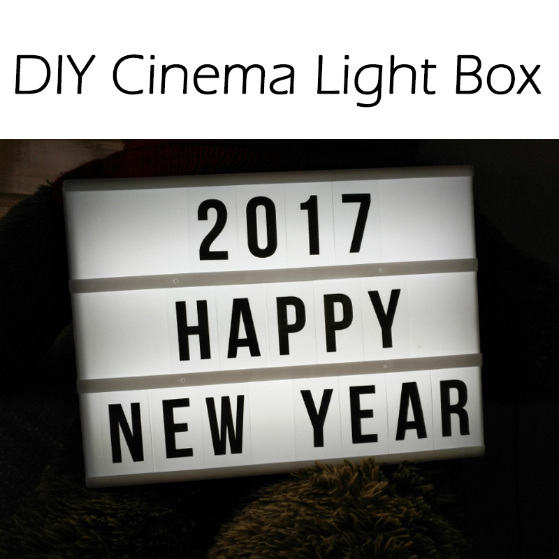 DIY LED Cinema Light Box Letter Rechargeable Lithium Battery night Lamp 180 PCS
