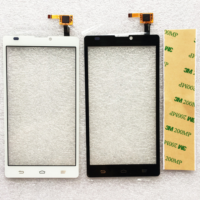 5.0 inch Black White TP For ZTE Blade L2 Touch Screen Digitizer Glass Panel For zte blade L2 Touch Screen Free Shipping