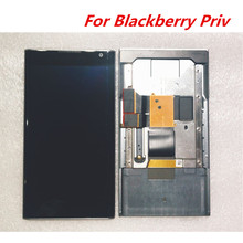 ブラックベリー Priv 使用 5.4 インチ Lcd ディスプレイフレーム + タッチ Digitzer アセンブリ修理パネルガラスアクセサリー