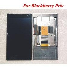 프레임 + 터치 스크린 digitzer 어셈블리 수리 패널 유리 액세서리와 블랙 베리 priv 5.4 인치 lcd 디스플레이에 사용