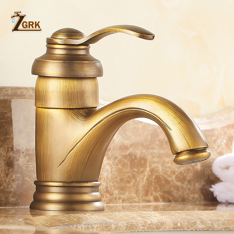 Vintage Bathroom Basin Faucet Antique copper sink basin faucet mixer tap hot and coldVintage Bathroom Basin Faucet Antique copper sink basin faucet mixer tap hot and cold