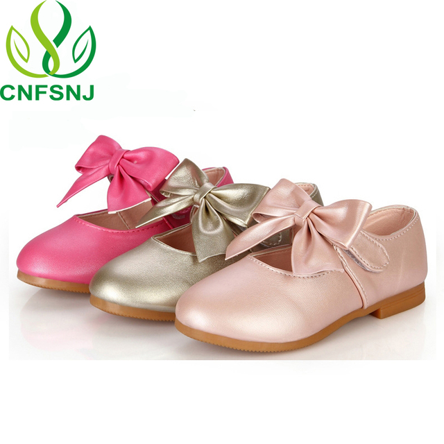 CNFSNJ 2018 spring autumn kids fashion princess bow flats for baby girls  brand party suede children pu leather shoes 21-36 4b5b07db9bcf
