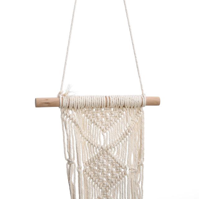 100cm Vintage Macrame Plant Hanger Basket Hanging Flower Display Flower Pot Holder String Hanging Rope For Wedding Decoration