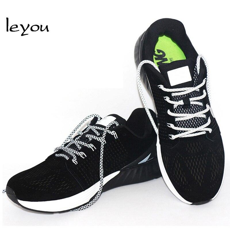 Leyou 100-160cm люминесцентная лампа кроссовки шнурки спортивные шнурки 3м Reflective круглые веревочные шнурки светлые шнурки Led