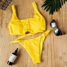 Новинка, сексуальный женский комплект бикини из двух предметов, бандаж, пуш-ап, Мягкий купальник, купальный костюм, пляжная одежда