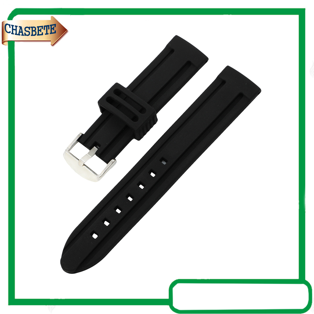 Silicone Rubber Watch Band for Breitling 20mm 22mm 24mm Men Women Resin Strap Belt Wrist Loop Bracelet Black + Spring Bar + Tool stainless steel watch band 26mm for garmin fenix 3 hr butterfly clasp strap wrist loop belt bracelet silver spring bar