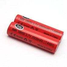 IMR 18650 2000 mah 3.6 V 3.7 V células De Lítio-íon Li ion recarregável 7.4WH bateria carregável para poder banco carregador Livre