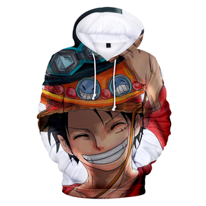 Image 1 - Fashion 3D One Piece Anime Hoodies Men pullovers Women Hooded Casual Long Sleeve 3D Print One Piece 3D Hoodies Mens Sweatshirts