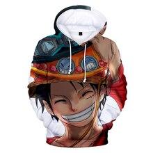 Mode 3D Een Stuk Anime Hoodies Mannen Truien Vrouwen Hooded Casual Lange Mouw 3D Print Een Stuk 3D Hoodies Heren sweatshirts