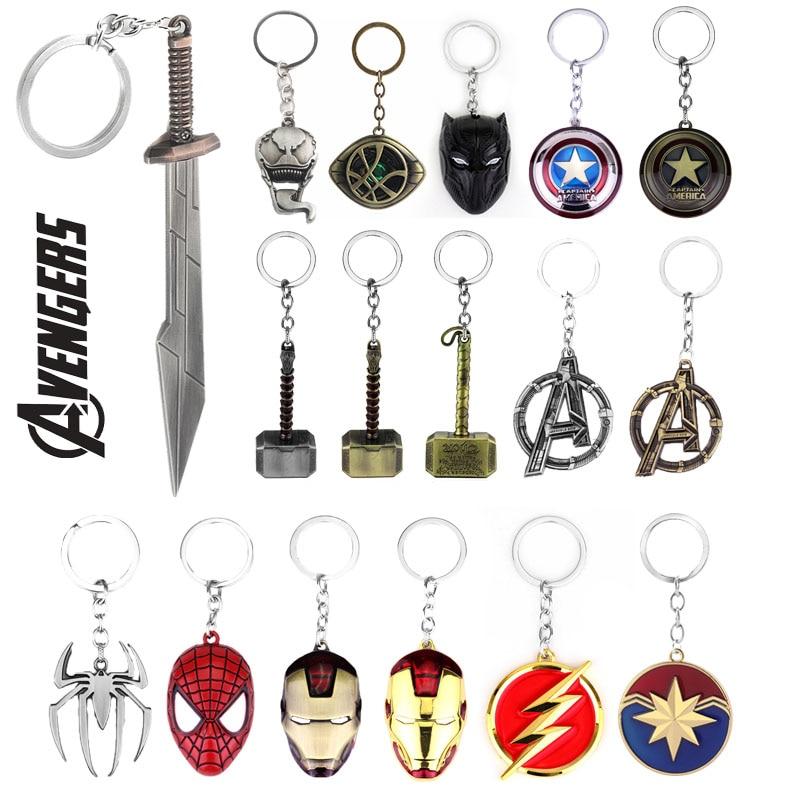 Marvel Avengers Thor Axe Hammer Keychain Stormbreaker Thanos Venom Spider-men Multiple Choice Gift For Fans Keyring Jewelry