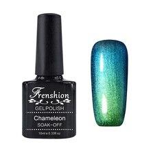 Frenshion Blue Green Phantom Chameleon 24Colors10ml Mood Changing Soak Off Vernis Semi Permanent Gel Nail Polish Gel UV Nail