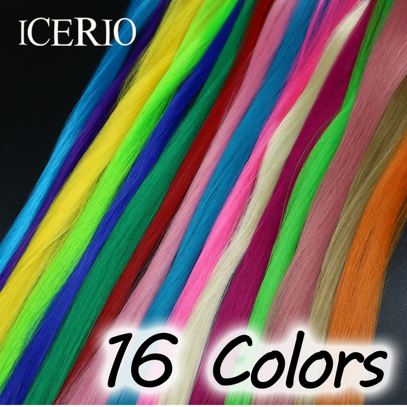 16 Colors Fly Fishing Tying Material Synthetic Hair Fibers for Making Steelhead/salmon Flies 5sheets pack 10cm x 5cm holographic adhesive film fly tying laser rainbow materials sticker film flash tape for fly lure fishing