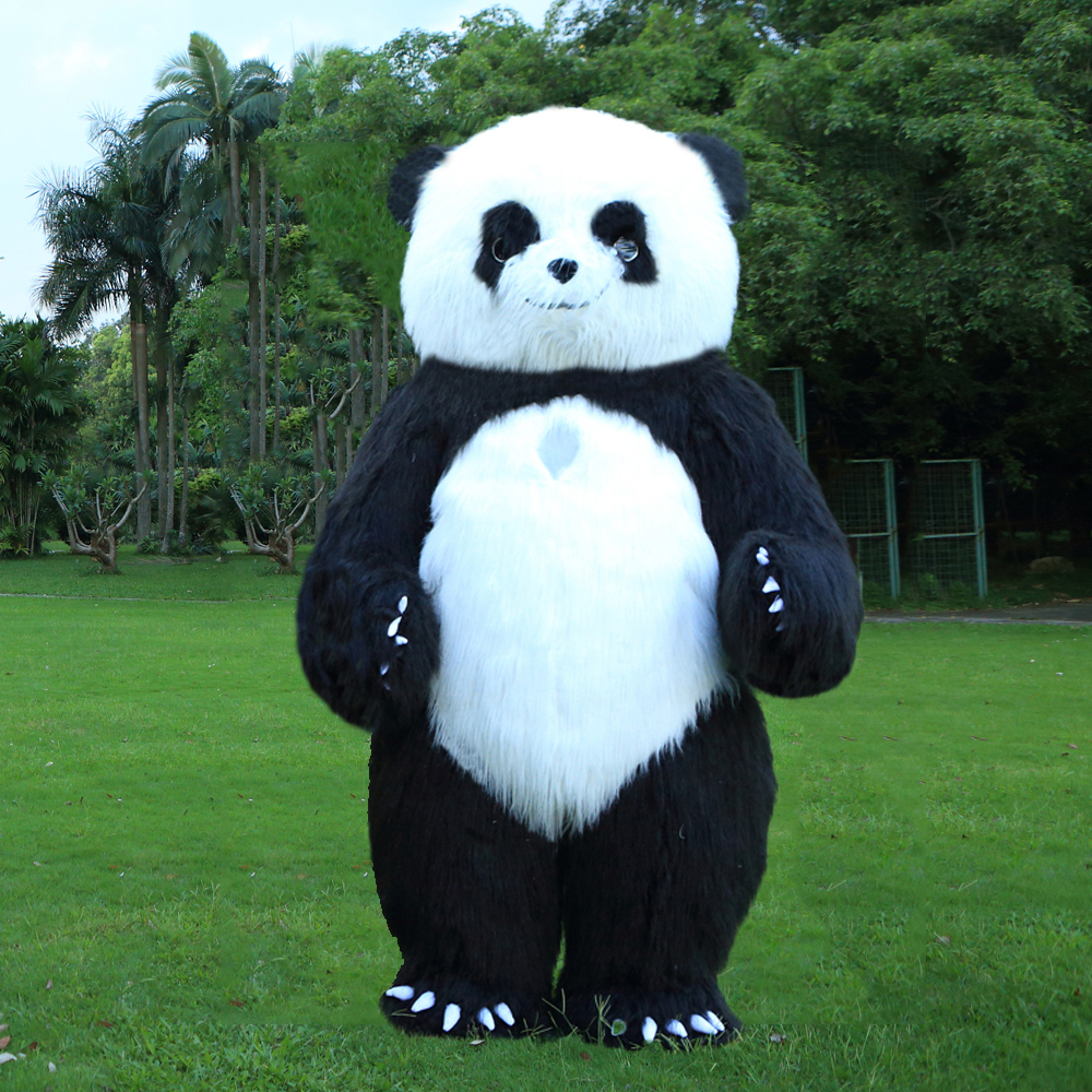 Nuovo Stile 2.6 m Gonfiabile Panda Costume Gonfiabile Panda Per La Pubblicità Personalizzare Per Adulti Adatto Per 1.7 m-1.9 m Per Gli Adulti