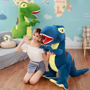 Image 3 - 60 センチメートル/90 センチメートル漫画の恐竜ぬいぐるみ趣味巨大なティラノサウルスレックスぬいぐるみ人形ぬいぐるみのおもちゃ子供男の子クラシックのおもちゃ