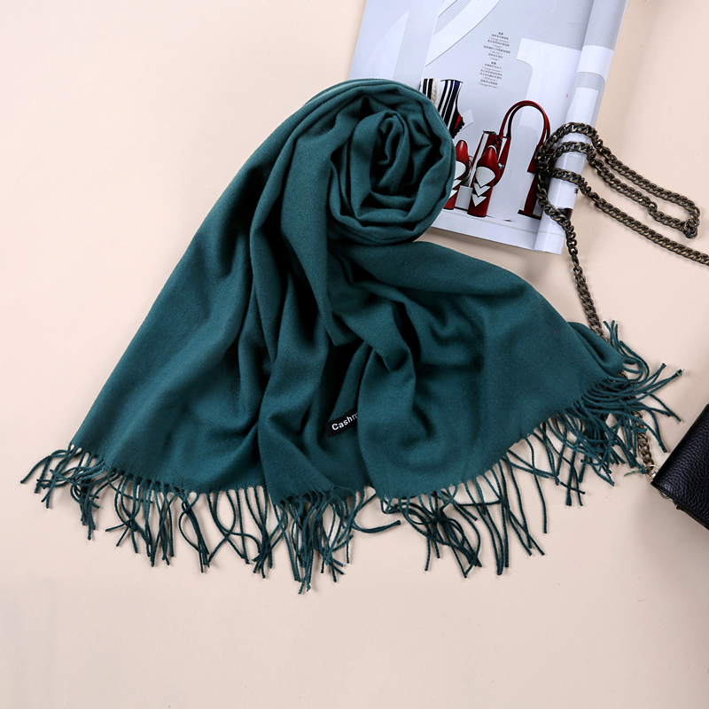 2017 Shawls and Scarves Cashmere Cape Plain Winter Warm Scarf Luxury - Apparel Accessories - Photo 6