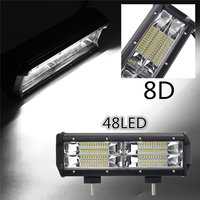 7 inch 216W 21600LM 8D Optic Lens LED Work Light Bar Flood Light Driving Lamp For All Terrain Vehicle Offroad 4 Wheel Drive IP67