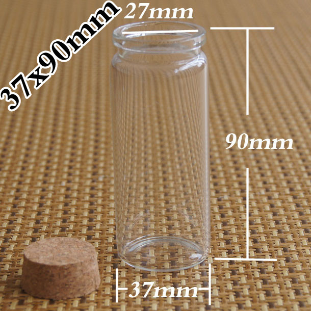 wholesale 500 Pcs 65ml empty Clear Cork Glass Bottles Vials For Wedding Holiday, Decoration Christmas Gifts 65ml glass bottle