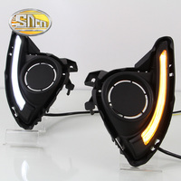 SNCN LED Daytime Running Light For Mazda 2 Mazda2 2015 2016 2017 Car Accessories Waterproof ABS