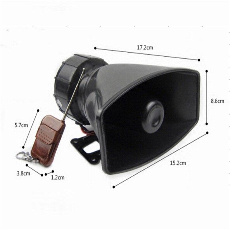 DC12V 100W Wireless Remote Control 4 Sounds Speakers Car Or Motorcycle Warning Siren Alarm Police Speaker Ambulance Loudspeaker