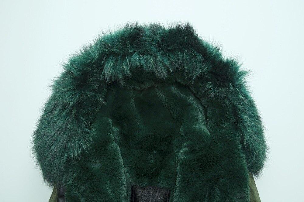 Manteau De Fourrure La Pour Gros Haute Mode Femmes Fourrures Foncé Qualité D'hiver Vert Hommes Faux 0ax8T