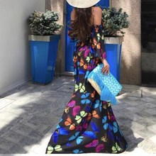 2019 Women Butterfly Printed Off The Shoulder Party Clubwear Jumpsuit Woman Sexy Romper