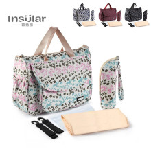 Insular Mother Shoulder Bag Baby Bappy Bags Fashion High quality Maternity Mummy Handbag Waterproof Baby Stroller Bag