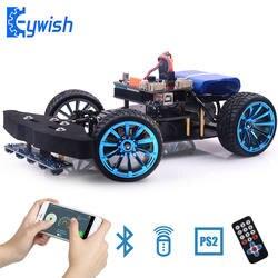 Keywish гонки умный робот автомобиль для Arduino UNO R3 приложение RC удаленного Управление ультразвуковой Bluetooth модуль стволовых игрушки для детей