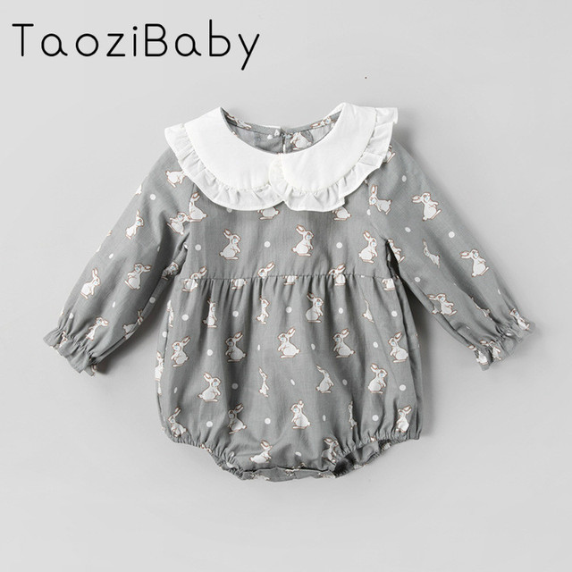 1dd42ef1a28 Spring 2018 Kids rompers Girls Baby Clothes Clothing Korean Cartoon Rabbit  Climb Romper Baby Girl Summer Clothes-in Bodysuits from Mother   Kids on ...
