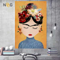 NOOG Cuadros style Nordic Decoration Wall Art Canvas Posters and Prints Canvas Painting Picture for Living Room Self Portrait