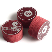 Cuesoul Soft Laminated Leather Tip -Soft - Set of 3