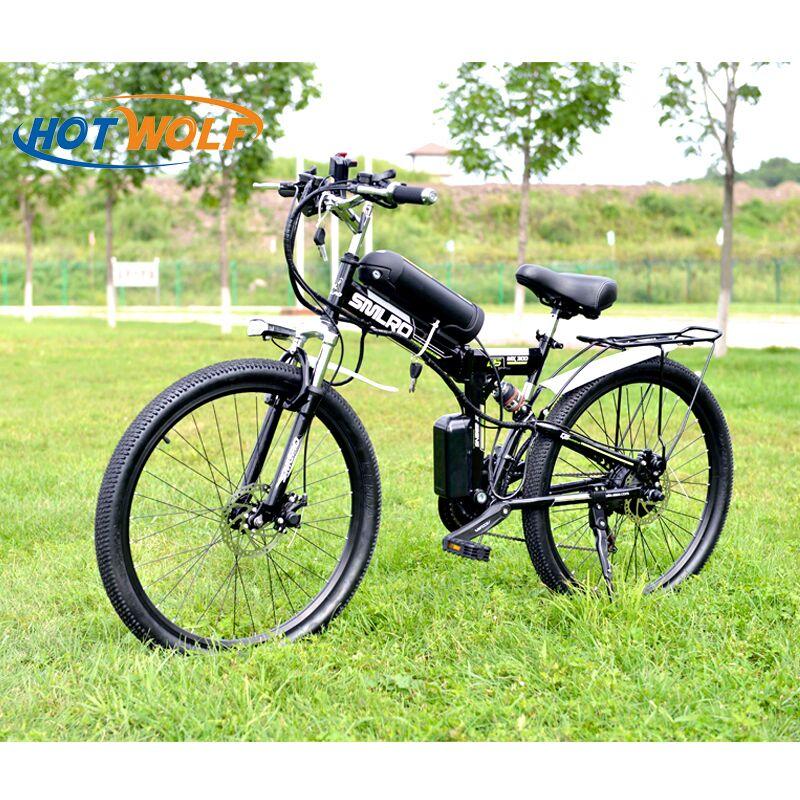 26 pollici Bicicletta Elettrica 48 V Batteria Al Litio Della Bici di Montagna Elettrica 350 W Motore 10.8ah Pieghevole EBike potente Bici Elettrica