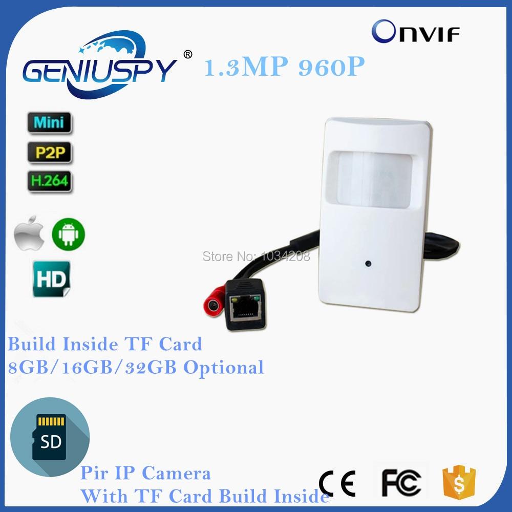 HD 1280 960P 1 3MP 3 7mm Lens Security Indoor Mini PIR Shell Surveillance Camera IP
