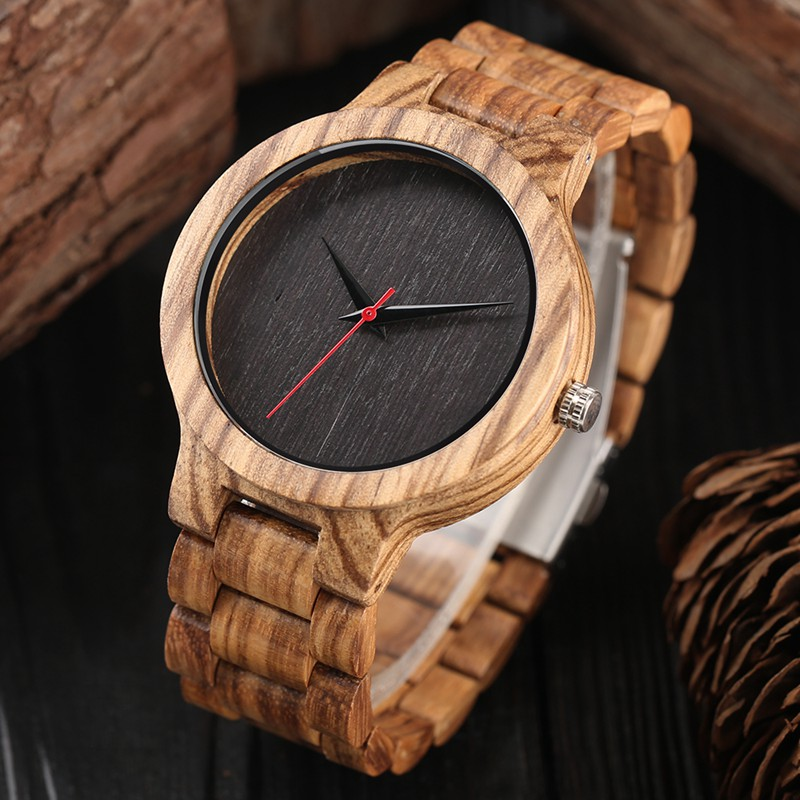 Retro Wooden Watches Quartz Analog Men Bamboo Modern Wristwatch Nature Wood Top 2018 Creative Sports Hour Clock saat Xmas Gifts yisuya luxury wooden watches for men vintage analog quartz handmade walnut zebra bamboo wood band wristwatch clock gifts reloj
