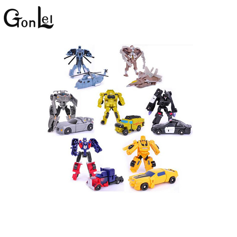 GonLeI Transformation 7style Kids Classic Robot Cars Toys Action & Toy Figures Birthday Christmas Gift For Children meng badi 1pcs lot transformation toys mini robots car action figures toys brinquedos kids toys gift