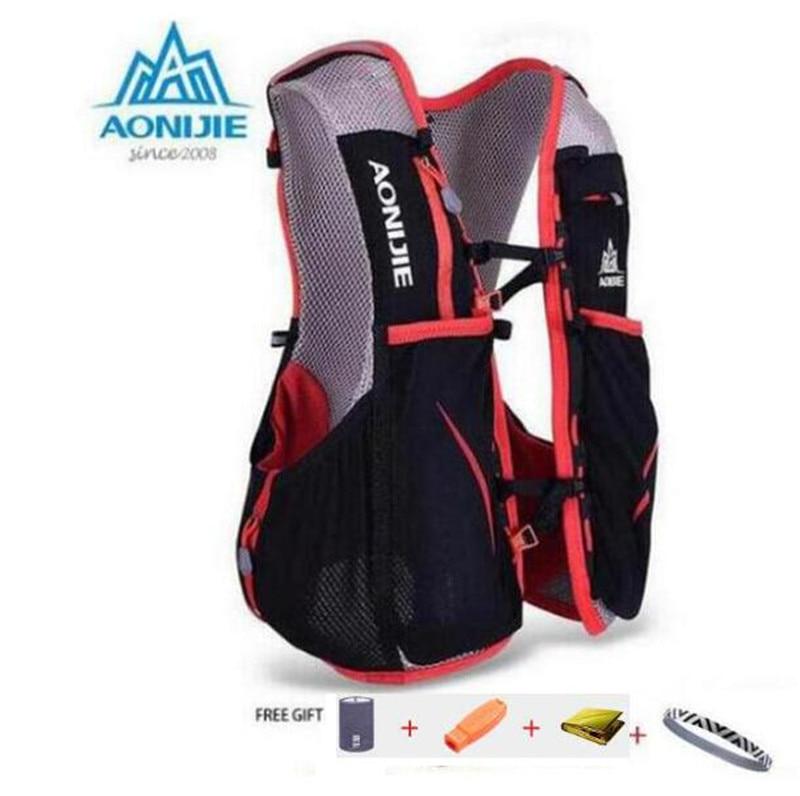 AONIJIE 5L Women Men Marathon <font><b>Hydration</b></font> Vest Pack For 1.5L Water Bag Cycling Hiking Bag Outdoor Sport Running Backpack