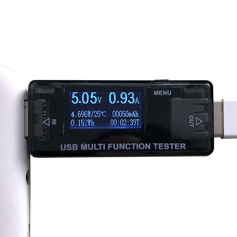 USB tester DC voltage and current detection QC2.0 3.0 power bank charger indicator DC Digital voltmeter amperimetro cur