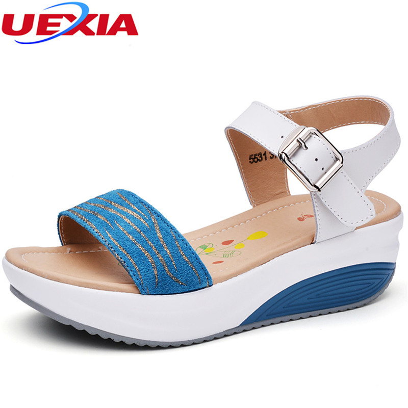 UEXIA New Women's Casual Leather Shoes Woman Sandals Loafers Slip-On Female Flats Moccasins Ladies Shoe Cut-Outs Mother Footwear new summer shoes women breathable air mesh woman loafers platforms female flats shoe casual wedges ladies footwear driving shoes