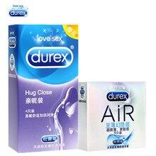 Durex Original Authentic 5pcs Condom 2 Styles in 2 Boxes AIR Super Slim Ultra Thin Hug Close Condoms for Men Sex Toys