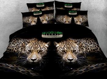 Juego De Cama Con Estampado De Leopardo | Sexi Animal Leopardo 3d Impreso Edredón Juego De Cama Edredón/edredón Cama Sábanas Twin Full Queen King Size 500TC Tejido Adultos