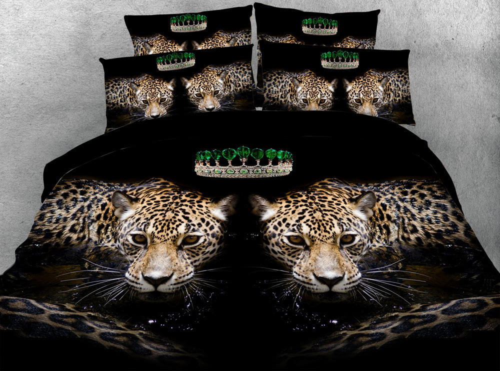 Sexy Leopard Animals 3d printed comforter bedding set quilt/duvet cover bed sheets twin full queen king size 500TC woven AdultsSexy Leopard Animals 3d printed comforter bedding set quilt/duvet cover bed sheets twin full queen king size 500TC woven Adults