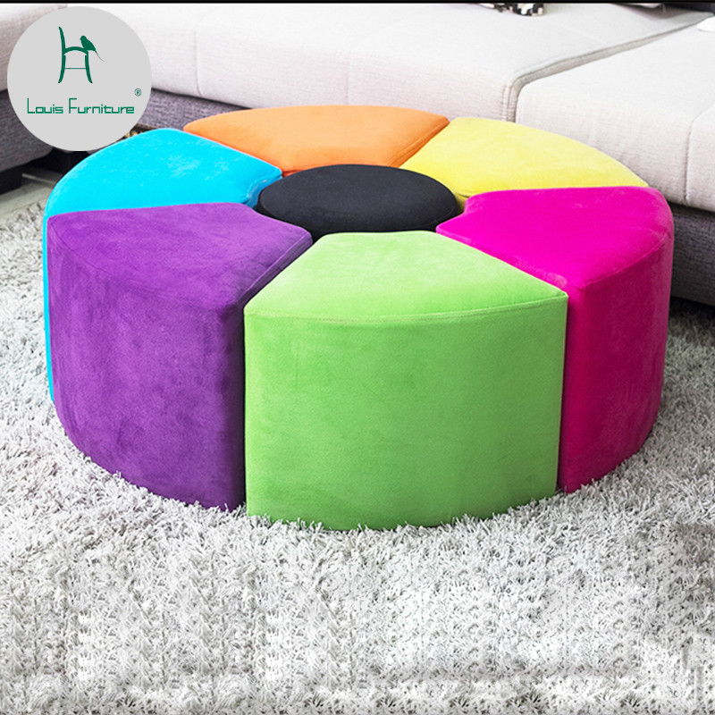 Louis Fashion Stools Ottomans Modern Simple Customized Nordic Pu Saddle Cloth For Shoes Creative Makeup Easy To Use Furniture Stools & Ottomans