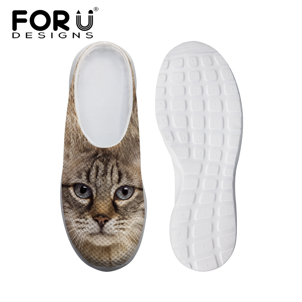 2016 Brand Woman's New Designer Cat Dog Beach Shoes Fashion Ladies Flat Slippers Summer Platform Sandals For Girl Women