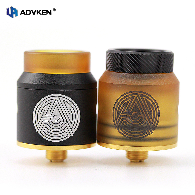 Advken 100 Authentic Artha RDA New 24MM BF Rebuildable Dripping Atomizer Vape Tank Compatible with Single