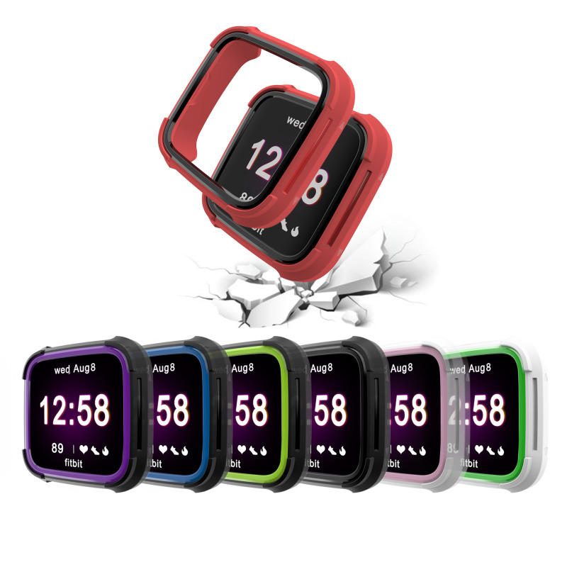 6 Colors Tpu And PC Case For Fitbit Versa Band Watch Shell Cover Screen Protector Smartwatch Accessories For Fitbit Versa Lite