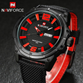 2016 New NAVIFORCE Men Watches Luxury Quartz Hour Date Clock Sports Watch Army Military Wrist Watch Relogio Free for Regulator