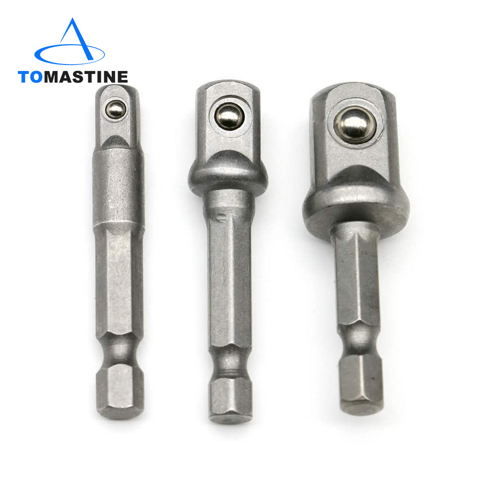 3 Pcs 1/4 3/8 1/2Hex Power Drill Bit Driver Socket Bits Set Adapter Wrench Sleeve Extension Bar For Electric Screwdriver Bits(China)