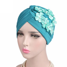 66c259fc38804 New Luxury turban hat Beaded Flower Turban Elegant Muslim Beanie Head wrap  Chemo Cap for Hair