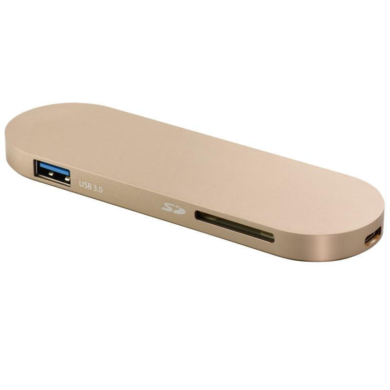 ФОТО Sipolar Mini USB Cable Adapter USB C HUB Type C USB 3.0 Ports for Mobile Phone or Macbook
