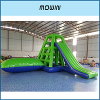 Sale of water park water slide games, large inflatable water slide, water can climb the shelf slide