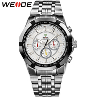 WEIDE Army Military Sports Top Brand Chronograph Wristwatch Clock Relogio Masculino Watch Men Army Quartz Movement Men's Clock